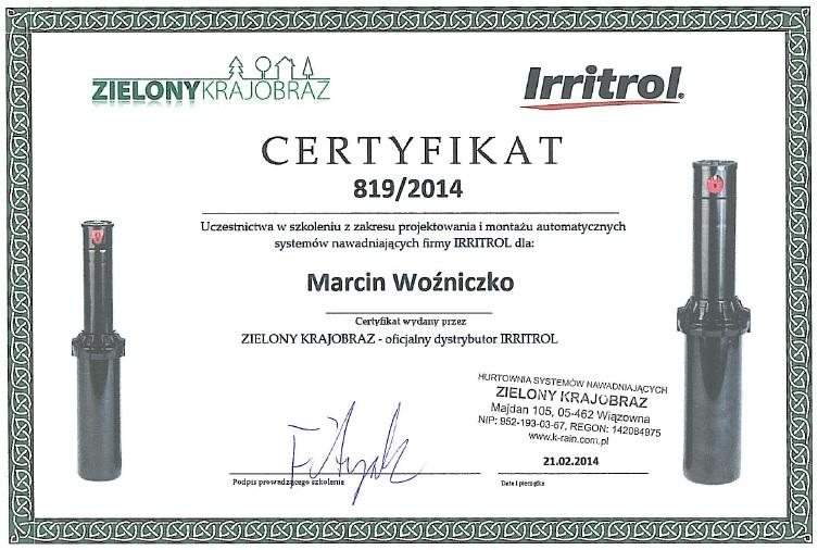 o Nas certyfikat